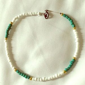 Jewelry - vsco choker necklace (white, teal and gold)
